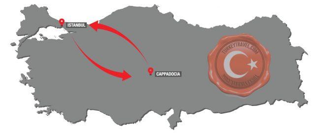 ESTAMBUL – CAPADOCIA – ESTAMBUL (2 Dias / 1 Noche) Tour en Avion